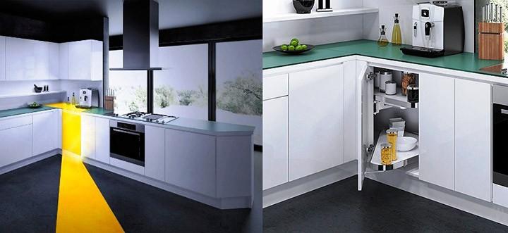 Новый поворотный механизм для угловых кухонных шкафов от Vauth-Sagel