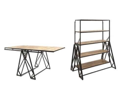 Конструкция полка-стол